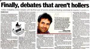 DNA - Indian Debating Union -Abhaey Singh - The Indian Debating Union 0 12-05-10 - vSmall